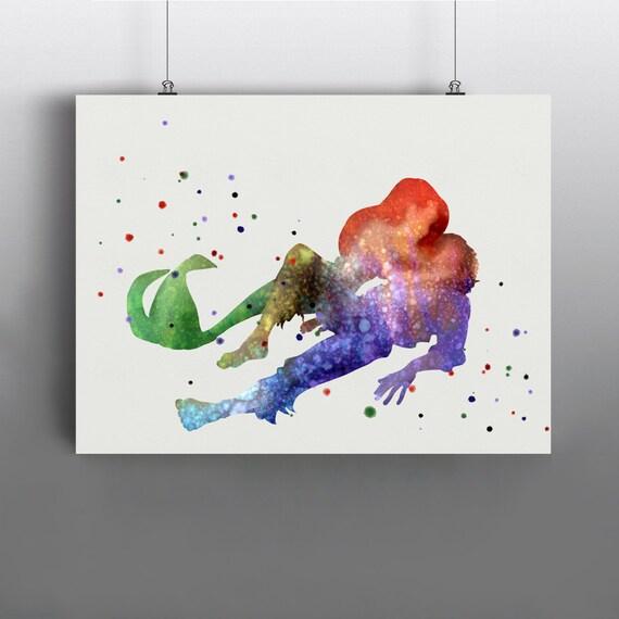 Ariel y Eric la pequeña sirena arte impresión carteles | Etsy