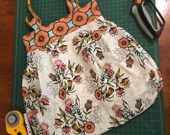 Afternoon High Tea Bag - Elegant Fabric Bag - Wood Teapot Handles