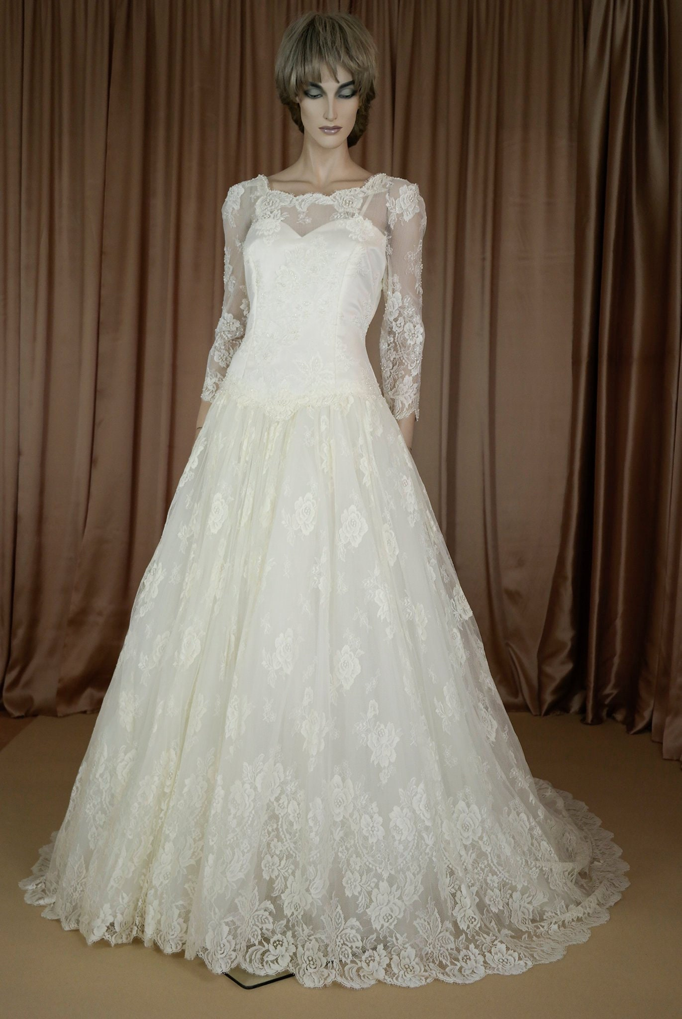 Vintage wedding Dress 20's Bridal gown from 1920s   Etsy