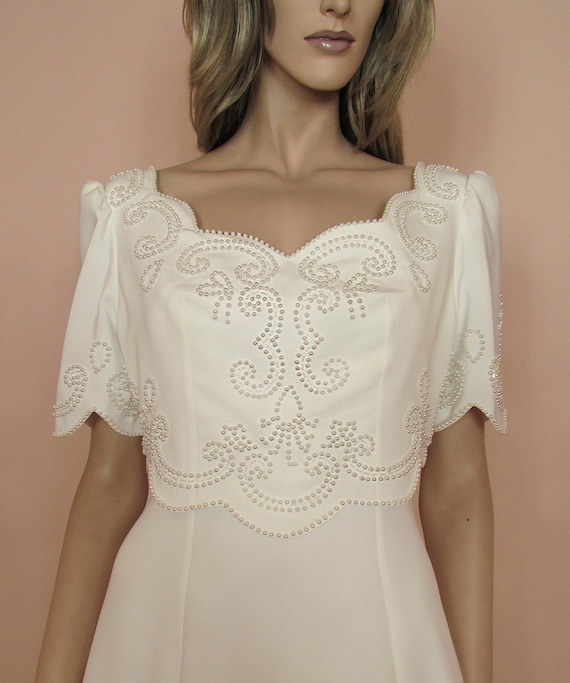 Scalloped wedding dress from 90s - Wedding dress -
