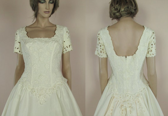 Vintage Hochzeit Kleid 90 Brautkleid Aus Der 1990er Jahre Etsy