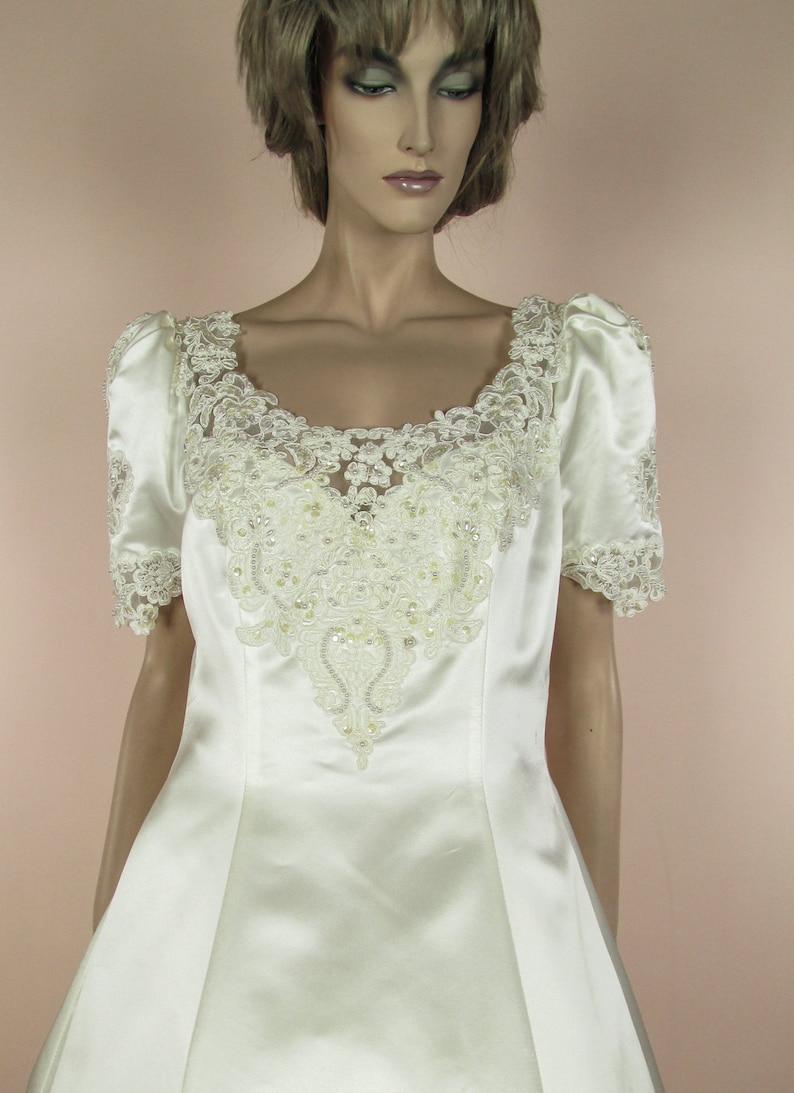 57dc79911503 Años 80 Vintage Vestido de novia vestido novia marfil | Etsy