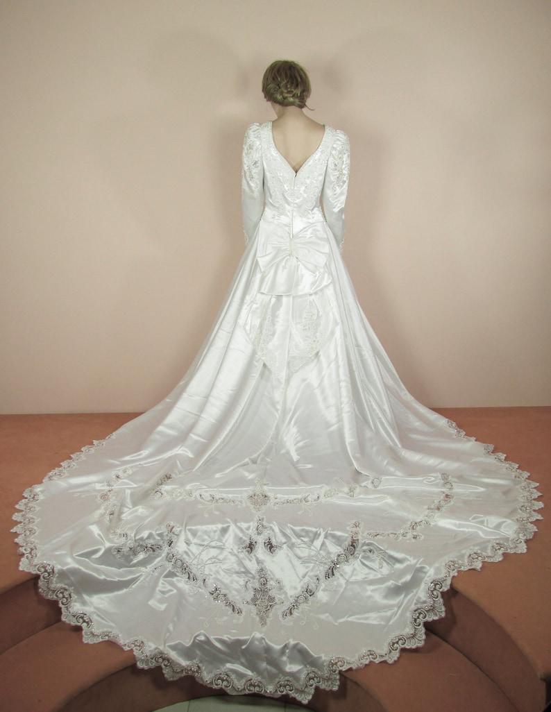 Weiße Brautkleid 80er Jahre Vintage Brautkleid aus der | Etsy