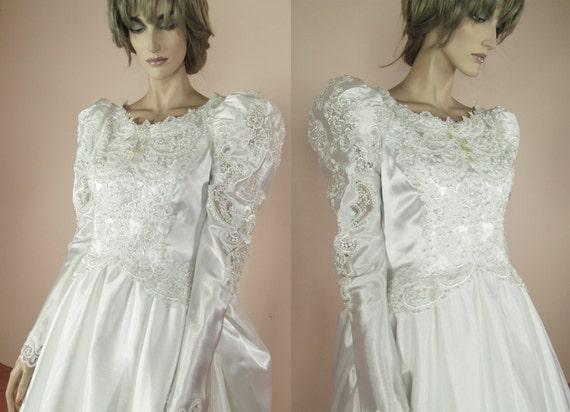 Robe de mariée des années 80-robe de marié