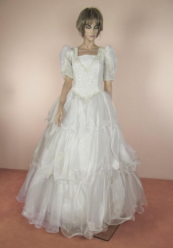 Weisses Hochzeitskleid 80er Jahre Vintage Brautkleid 80er Etsy