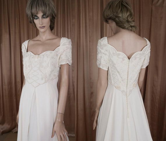 90's Vintage Wedding Dress Vintage