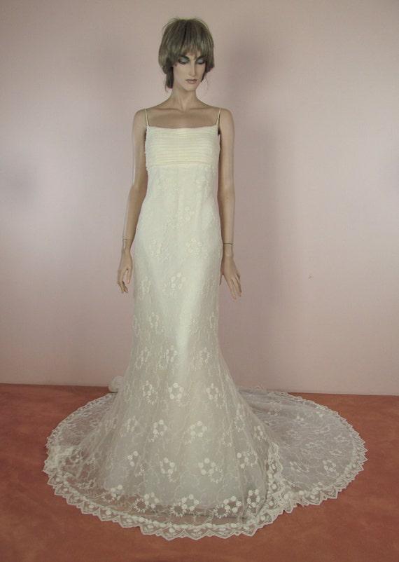 90 S Vintage Wedding Dress Ivory Wedding Dress From The Etsy