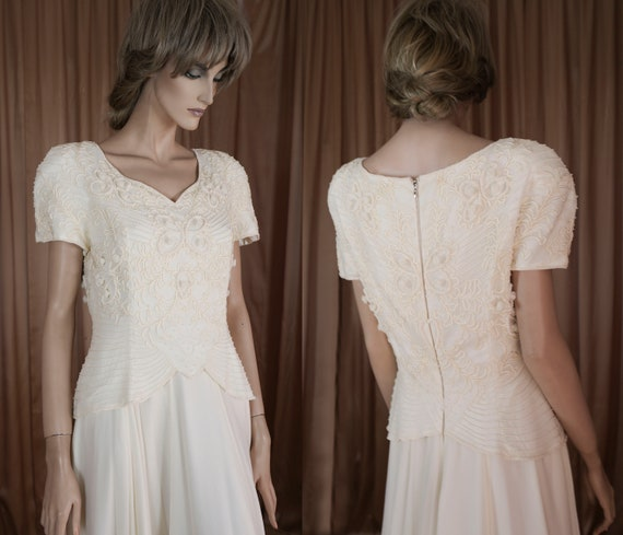 70's Vintage Wedding Dress  - Vintage beaded dress