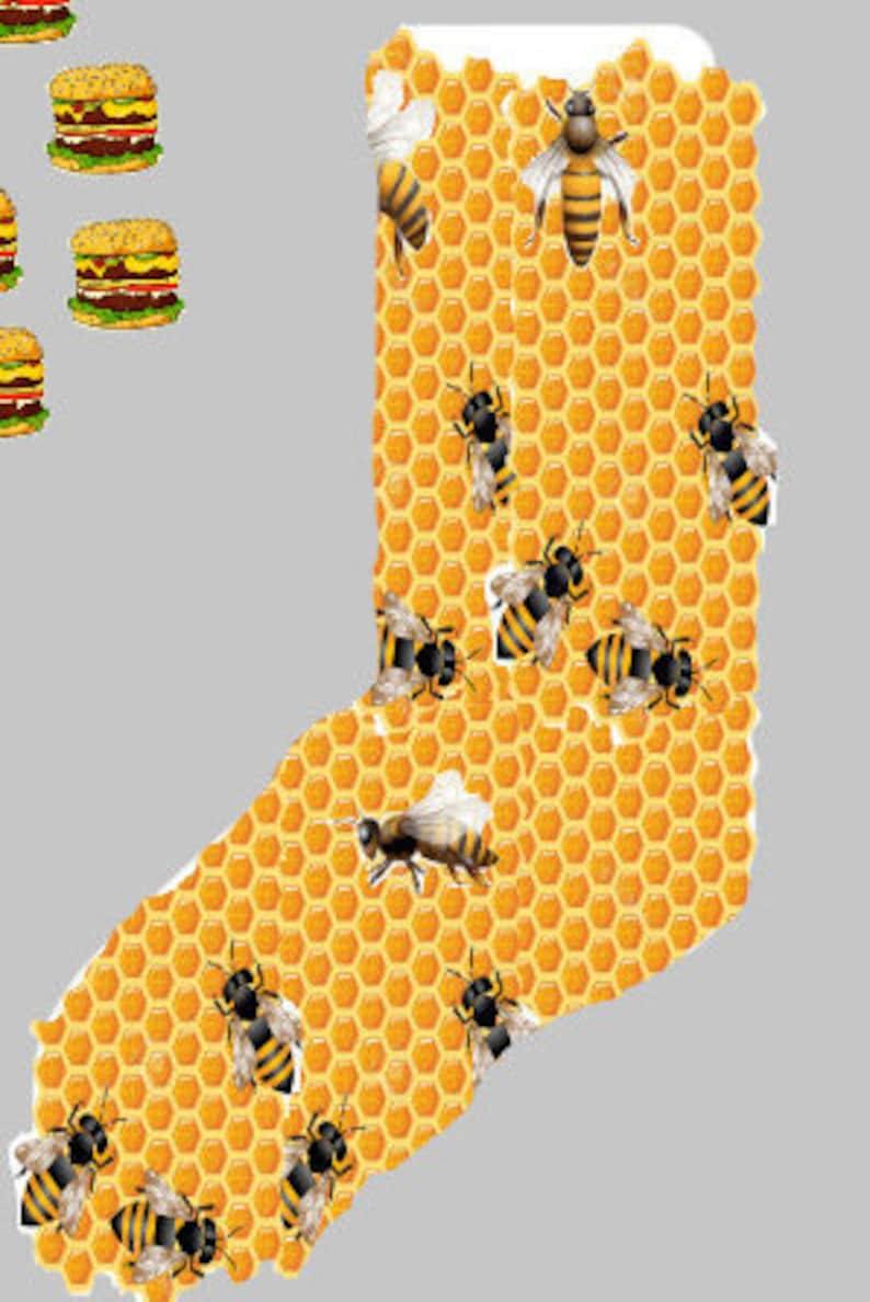 Honey Bee Crew Socks