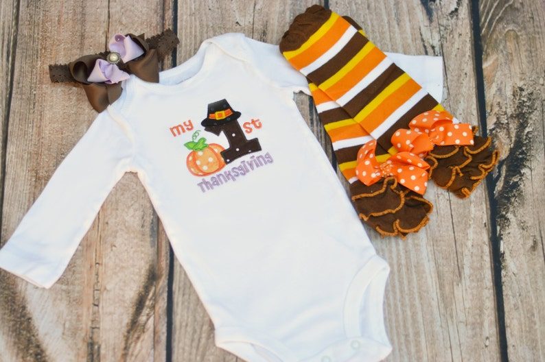 7475e204d My First Thanksgiving Outfit Baby Girl 1st Thanksgiving | Etsy
