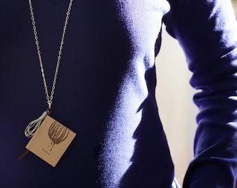 Miniature Book Necklace-Silver