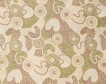 100% Cotton Quilting Fabric - Australian Inspired - SPOT GOOLOO CREAM - sold by 1/4 metre or Fat Quarter