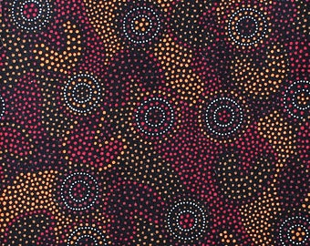 100% Cotton Quilting Fabric - Australian Inspired - SPOT GOOLOO DESERT - sold by 1/4 metre or Fat Quarter