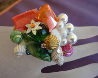 ring syracuse mother of Pearl and starfish