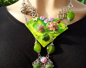 Necklace: the frog pond