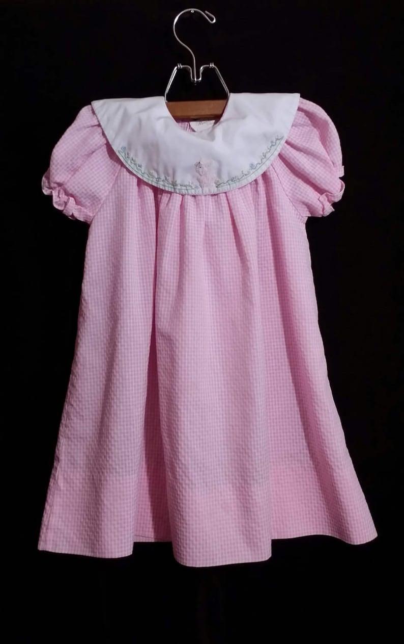 5b42b2bdf1754 Free Shipping - Little girl lite pink vintage smock dress. size 2T