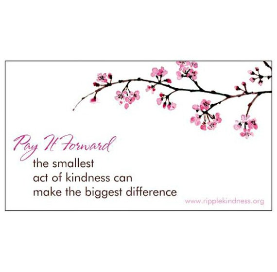 Pay It Forward Fridget Magnets Inspirational Quotes Etsy Extraordinary Pay It Forward Quotes