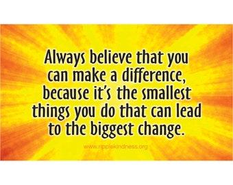 Fridge Magnets - Always Believe - Inspirational Quotes