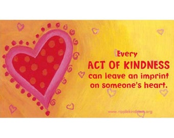 Fridge Magnet - Acts of Kindness, Kindness Matters, Be Kind, Inspirational Quotes, Positive Quotes, Motivational Quotes, Love