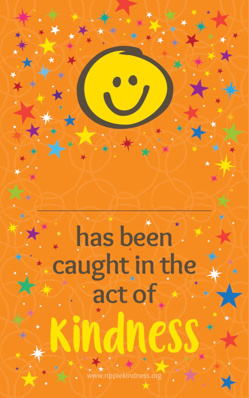 Caught in the Act of Kindness Cards for Children