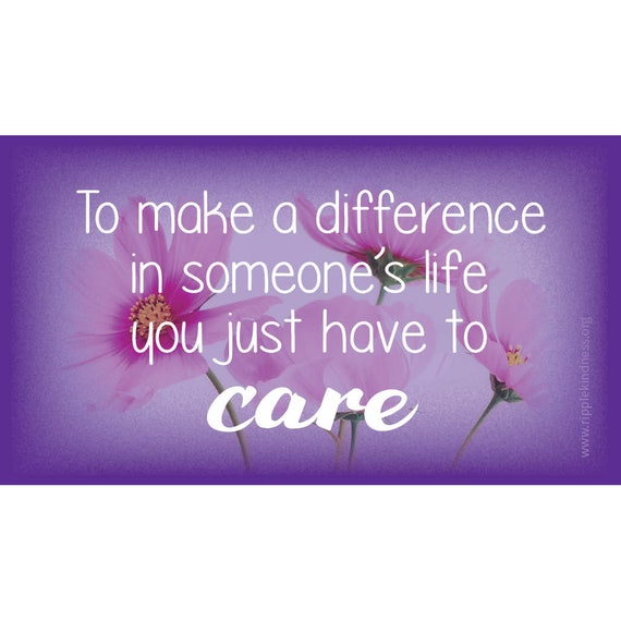 To Make A Difference In Someones Life Magnet Positive Etsy