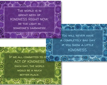 Fridge Magnets - Kindness Quotes, Inspirational Quotes, Acts of Kindness, Kindness Matters, Be Kind, Positive Thoughts, Affirmations