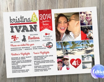 Holiday Christmas Year in Review Postcard // Christmas Card // Holiday Card