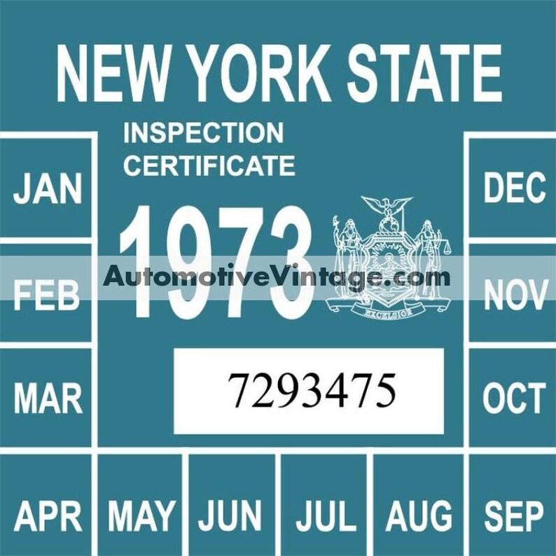 Vintage 1973 New York Windshield Inspection Sticker image 0