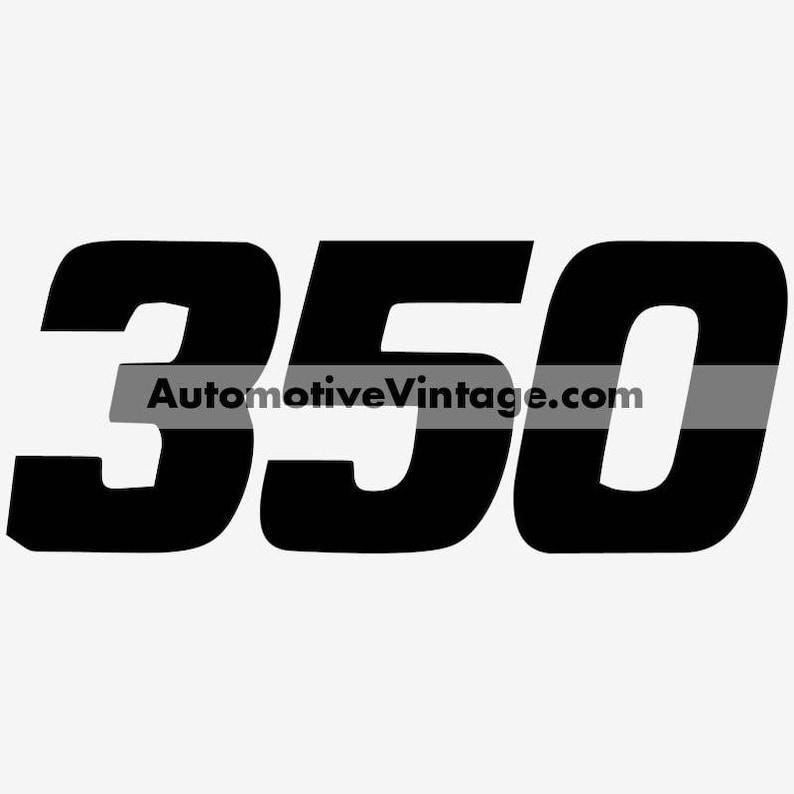 General Motors Chevrolet Chevy 350 Engine Size Vinyl Decal Car image 0