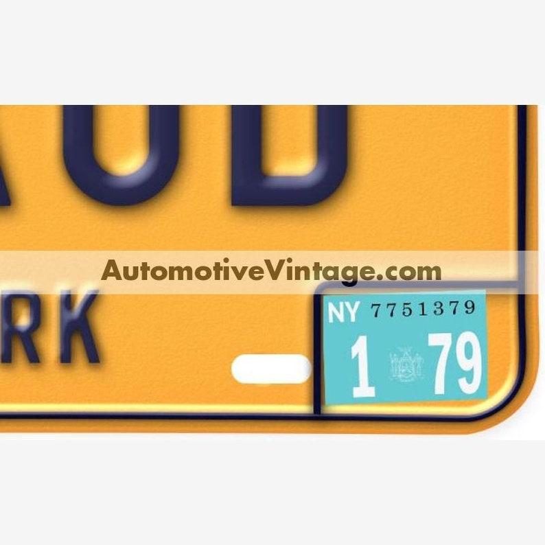 New York 1979 Vintage License Plate Registration Sticker image 0