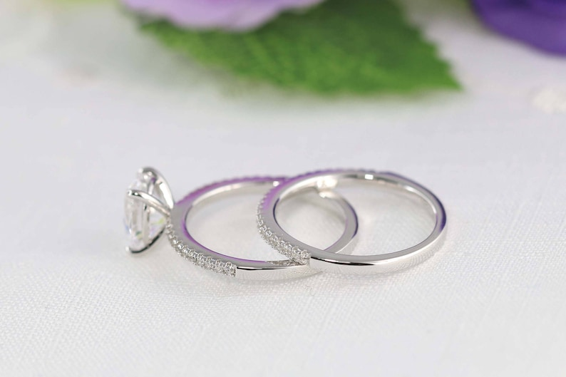 Oval Solitaire ring Oval Cut Ring 2.45ct tw Classic Oval Engagement Ring Set Oval Promise ring Bridal Set Sterling Silver