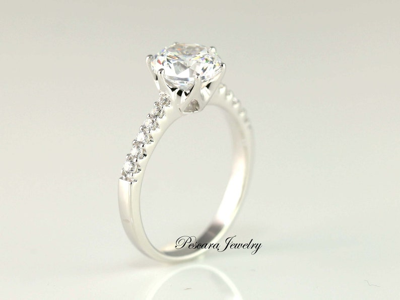 f16daa3d32c0 2 Carat Engagement Ring Solitaire Ring Round Cut Ring