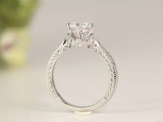 Art Deco Engagement Ring Vintage Inspire Ring Antique Etsy