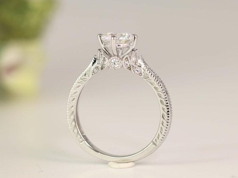 Art Deco Engagement Ring  Vintage Inspire Ring  Antique image 0