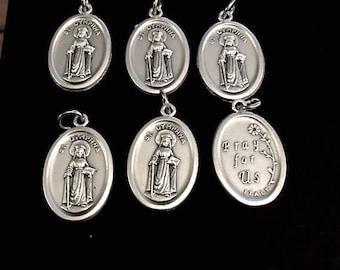 Saint pendants etsy quick view saint dymphna medals aloadofball Image collections