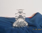 Vintage Anchor Hocking Bubble Glass Candle Holder Vase Reversible Can Be Turned Upside Down To Be Either A Vase Or Candle Holder.