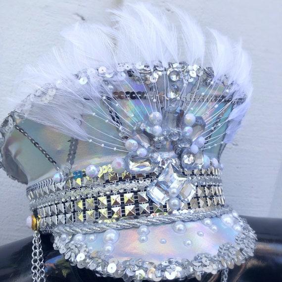 groove cruise edm Korean Asian edc Christmas gift South Korea LED Captain/'s Hat: festival fashion Tomorrowland rave