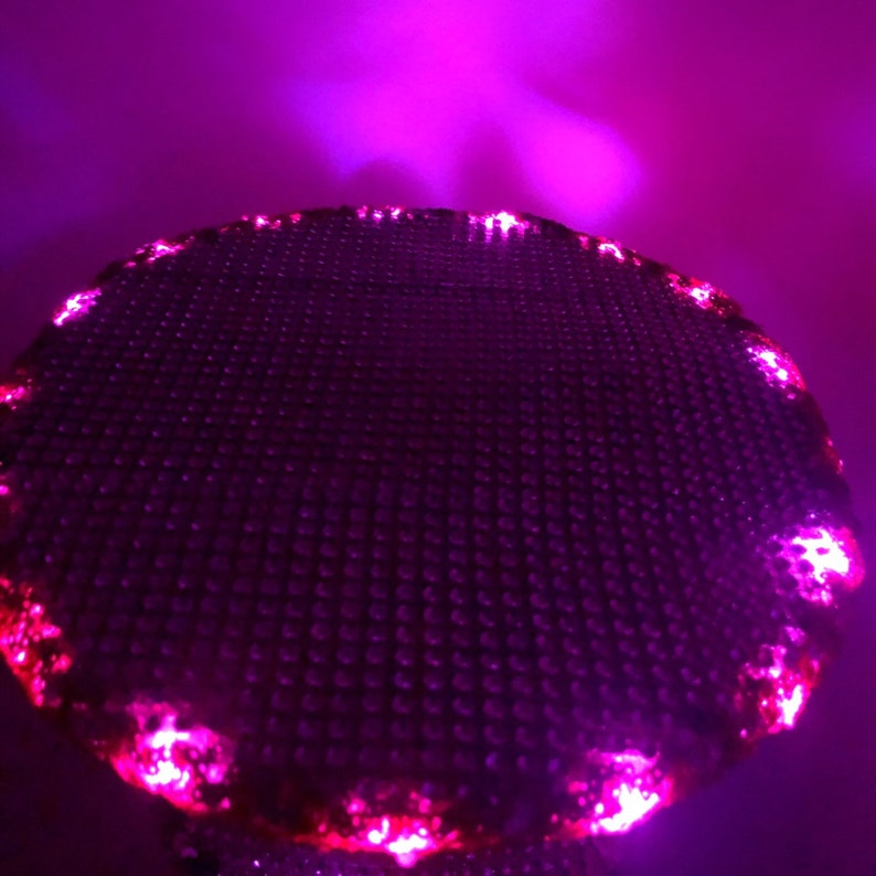 desert hearts yacht party fuchsia edc ultra Magenta Mood LED Captain/'s Hat: festival fashion rave wear pink bachelorette party