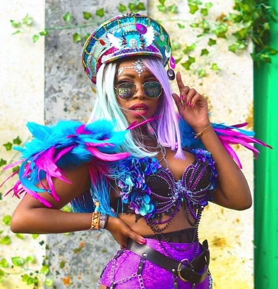 Siren Costume Festival Lingerie Rave Bra MADE TO ORDER Burning man Dark Mermaid Bra Shell Bra Green Mermaid Rave Wear Edc Bra