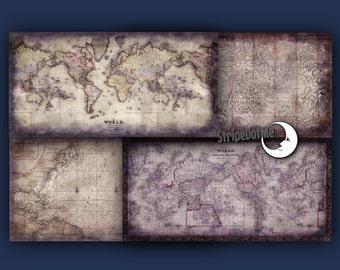 Purple America Map.Old Maps Digital Paper 10x20 Purple Maps Europe Maps Etsy