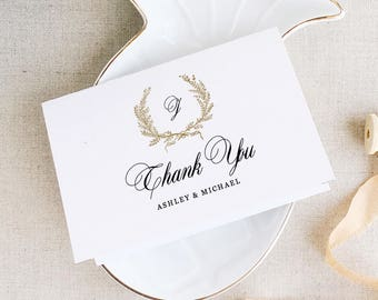classic thank you card template wedding thank you printable thank you cards edit in word or pages