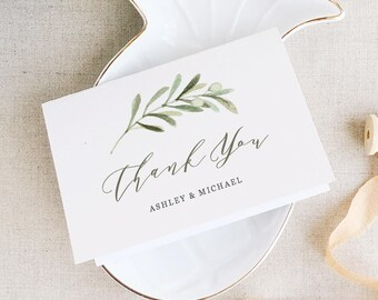 word thank you card template