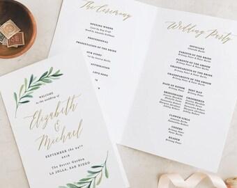 word wedding program template