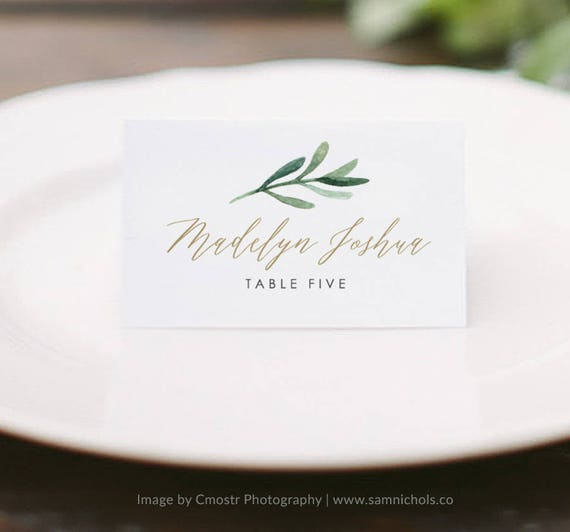 place card template wedding