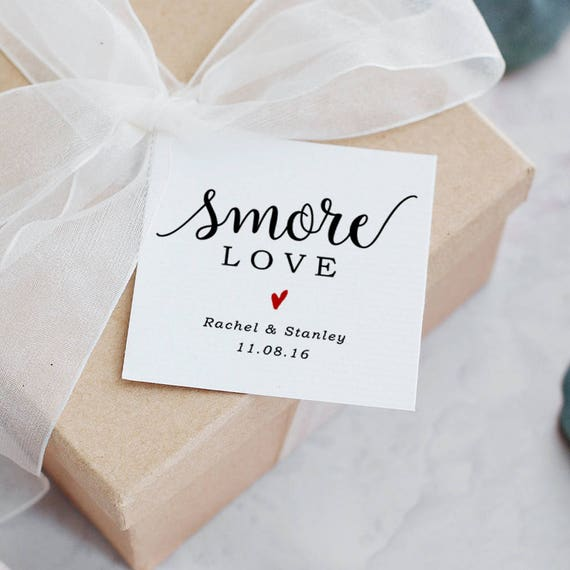 Smore Love Tags Wedding Tags Printable Wedding Favor Etsy