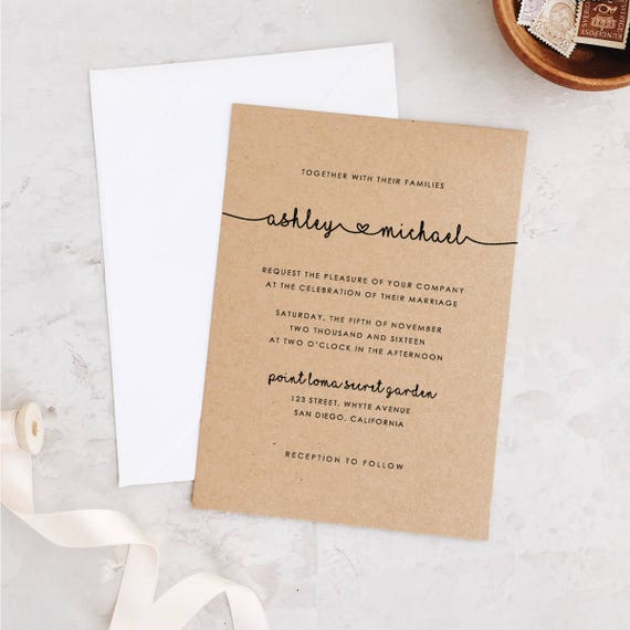 graphic about Wedding Stationery Printable titled Marriage ceremony Invitation Template, Printable Marriage Invitation Suite, Lovable Marriage Invites, Whimsical Marriage Edit within Term or Web pages