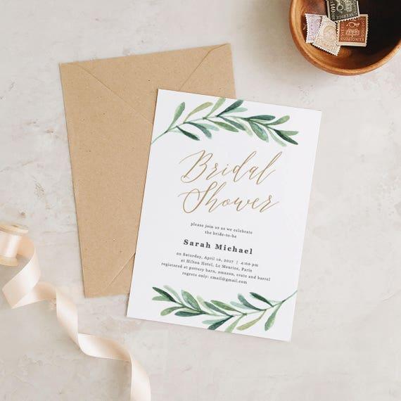Bridal Shower Invitation Printable Bridal Shower Template Etsy
