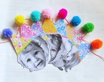 Office Decor Meri Meri Set of 6 Pom Pom Paperclips Easter Basket Stuffer Homeschool Bunny Paper Clips