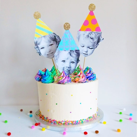 Outstanding Large Birthday Cake Toppers Pack Of 3 Sparkly Party Hats Etsy Personalised Birthday Cards Paralily Jamesorg
