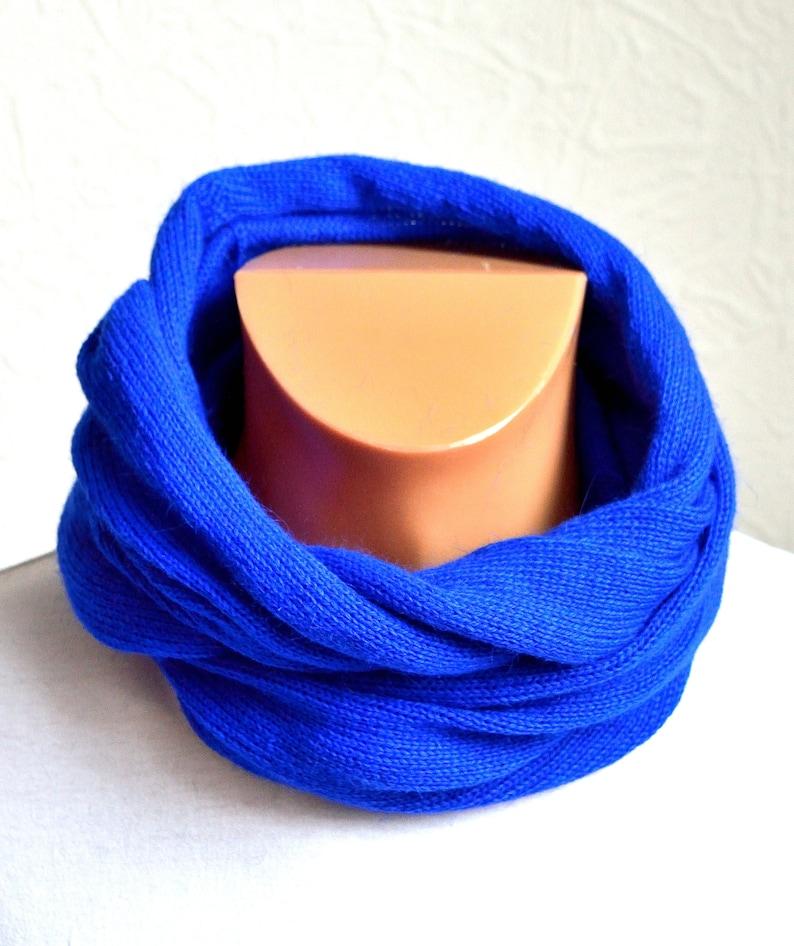 Hand made cashmere men/'s snood scarf